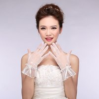 Wholesale 03 Wedding accessories gloves embroidered lace applique pleated beads inlaid variety of styles