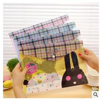 paper folder - 2015 Waterproof bag office data Stationery pure fresh lovely plastic A4 envelope transparent folders paper bags file cover