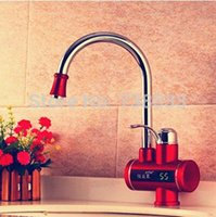 Wholesale W Temperature Display Instant Water Heater Electric Water Faucet Kitchen Faucet Dual Hot Water Heater