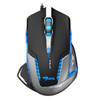 Cheap Wholesale-Best selling s E-3lue Mazer II 2500 DPI 6 Button Blue LED USB Gaming Game Mouse I-eat
