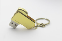 Wholesale 50pcs NEW DHL For GB GB Stainless steel USB Flash Drive disk USB mini gift memory stick Pendrives thumbdrives