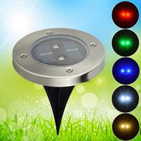 Wholesale High Quality Solar Waterproof Underground Lamp Round Outdoor Decking Pieces LED Lights For Garden Road Decoration