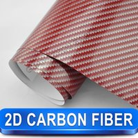 aluminum foil sheets - Red D carbon fibre sheets PVC Car Styling with air drain vinil sticker colored foil sheets Size m x m Fast SHIPPING