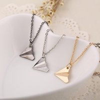 airplane colors - 1D One Direction Necklace Paper Airplane Pendant Jewelry for Men and Women in stock colors