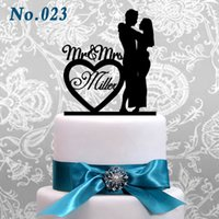 Wholesale Custom Wedding Cake Topper Acrylic Cake Topper Cake topper with color choices