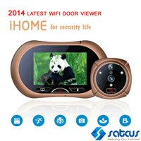 Wholesale 2014 Latest Wifi Door Viewer With quot HD TFT Deg Camera Supports Video MMS Picture PIR Detector Night Vision SOS
