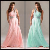 aqua backless dress - 2015 New Arrival Pink Aqua Rose Cadbury Purple Wine Chiffon One Shoulder Bridesmaids Dresses