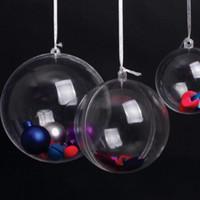 christmas box - Clear Plastic Ball Wedding Candy Box Xmas Tree Ornament Decoration Gift Hang Ball Supplies Sizes