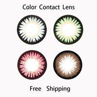 geo lens - GEO Similar Angel Color Contact Lenses Big Eye Bambie Series Almond Apple Green Sesami Gray Chocolate