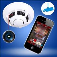 Infrared smoke detector camera - HD P WIFI Smoke Detector Spy Hidden Camera UFO shape Wireless IP Hidden Video Recorder P2P Security System Cam