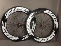 zipp - zipp T800 Carbon wheels clincher Tubular wheelset white logo mm carbon road bike wheels with Novatec hub