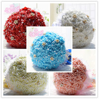 Wholesale 2015 Brand New cm diameter cm high Rose Flower Wedding Bridal Bouquet Flower Hand Holding