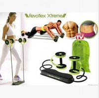 ab machine equipment - Revoflex Xtreme Fitness Abdomen Machine Fitness Equipment Abdominal Slim Trainer AB Trainer Body Slimming Exercise Bands Rope LJJE195
