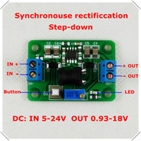 adjustable switching voltage regulator - DC DC Step Down Synchronous rectification Adjustable Supply Power buck converter voltage LED indicator Button Switch