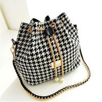bead trend - New Hot women bag Women Handbag National Trend Bohemia Style Print Chain Drawstring Bucket Bag Women Messenger Bag bolsa feminina