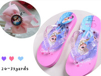 Wholesale 10 OFF24 YARDS children slippers cartoon Flip flop fashion sandals shoes hairband kids slippers Summer girls Beach shoes