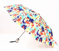 big bear sky - Summer Color Spots Big Bear Print Umbrella Sunny Rainy UV Protection Fold Automatic and Non automatic Sun Rain Gear