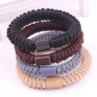 Wholesale fashion lace hair bands for women strong elastc hair bands colors