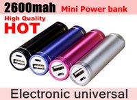 Cheap New hot Mobile Power 2600mah Universal Portable Phone Power Bank Battery Charger (Factory Wholesale, Can print LOGO)