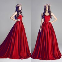 al dresses - Hamda Al Fahim Evening Dresses Romantic Red Sweetheart Plus Size Ball Gowns A Line Sweep Train Long Celebrity Evening Dresses AL061018