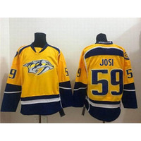 Wholesale Predators Josi Yellow Jerseys Cheap New Ice Hockey Jerseys Gold Premier Home Jersey High Quality Authentic Mens Hockey Wears