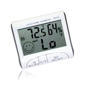 Wholesale New brand White Mini LCD Digital Thermometer Humidity Meter Room Temperature Indoor Hygrometer hot selling