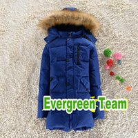 Wholesale 2014 fashion big boys coat warm brand quality pure color hooded down jacket long fur collar boy winter coatXY171