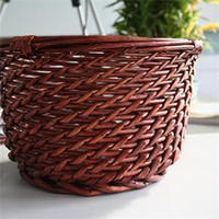 bicycle wicker - Popular Cycling Bicycle Front Handlebar Manual Wicker Basket Lowest Price Bike Willow O Shaped Basket