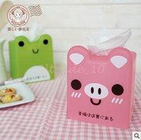 Wholesale 192pcs LJJC3435 High Quality Candy Color Tissue Box Animal Napkin Box Candy Storage Box Girlwill Paper Handkerchief Case Storage Organizers