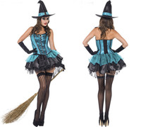 beauty spices - 2015 Halloween Costume Witch Outfit Witch Uniform Demon Of Pirate Clothing Clubs Spice Uniform Party Stage Performance Clothes A25