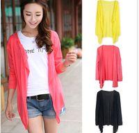 blouse free size - 2015 Women Summer Women Sun Protection Sunscreen Blouse Cardigan Thin Shirts Sunblock Top One Size