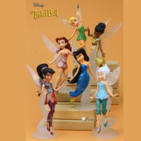 Wholesale Retail boneca cm Tinkerbell dolls Fairy Adorable tinker bell Mini toy flower pretty doll Action Figure brinquedo set