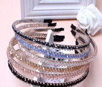 Wholesale 2015 hair accessory rhinestone headband hairbands crystal beaded hair bands metal hair pin for elegant bride women girls