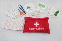 Wholesale First Aid Kit For Outdoor Travel Sports Emergency Survival Indoor Or Car Treatment Pack Bag sets