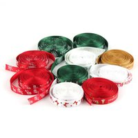 Wholesale Excellent Quality Beautiful Design mm Printed Merry Christmas Tree Grosgrain Ribbon Scrapbooking Adhesive Tape