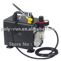 Barato Air compressor-TNT Frete grátis! AC mini-compressoir ar para pintura tatoo spray, Airbrush Compressor Kit DH18BK (GS, CE, ROHS, ETL, CETL)