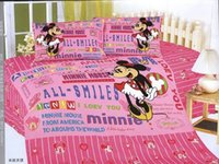 america smile - America minnie mouse twin bedding sets character print cotton TC children girls smiles bedclothes quilt duvet cover set