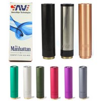 Wholesale Manhatttan Mech Mod Black Color Red Copper Material Magnet Switch Coming with Additional Pin in Gift Box For Orchid Doge RDA Atomizer
