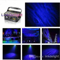 Wholesale DHL mW Red Green laser stage DMX Light with W Blue Summer Romantic Moonstar in blue night sky Grating DJ Disco Lighting