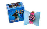 gift - Frozen Snow Princess Pink Wrist Watches Children Gifts Box packed Cartoon Watches for Kids Children Factory Price Free dhl Shipping