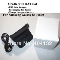battery charger base station - 50PCS Micro Base Dock Cradle Charger Desktop Mount Battery Charging Dock Station For Samsung Galaxy S4 SIV i9500 W Package