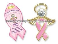 Wholesale a Breast Cancer Jewelry Awareness Angel Ribbon Pin