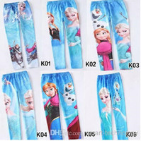 new design pants - 2015 new FREE FAST WAY Frozen Elsa Anna girls children leggings long pants trousers designs