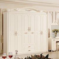bedroom set wardrobe - European style wardrobe Paphia French six door wardrobe factory direct selling price F8863