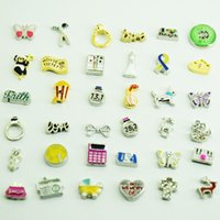 Wholesale new types at least different styles will be included mixed floating charms for Zinc alloy glass living lockets