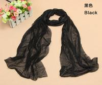 Wholesale Solid color folded women silk scarves Dance performances long scarves candy color fabric gift silk kerchief scarves colors cm cm