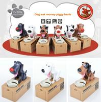 Wholesale Smallwholesale a six colors creative cute greedy dog eat money mischief saving box kids gift CHOKEN BAKO my dog Piggy bank