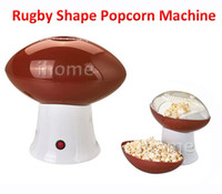 Wholesale Children s Gift Household Electric Rugby Shape Hot Air Popcorn Making Machine Popcorn Maker with EU Plug White