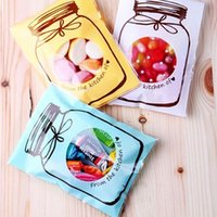 adhesive bottle - 7 cm quot Cookie Packaging Colorful Bottles Self adhesive Plastic Bags For Biscuits Snack Candy Baking Package Cellophane