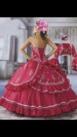 Ball Gown Reference Images 2015 Spring Summer Free Long Sleeve Jacket Red Ball Gown Wedding Dresses with Beads Sequins 2015 New Sweetheart Lace up Cheap Bridal Gowns Custom Made